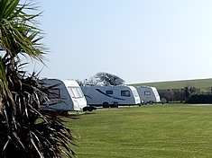 Touring caravans on Looe Campsite