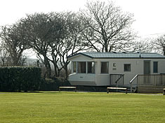 One of our five static caravans