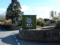 Looe Country Park entrance sign