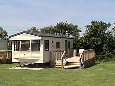 Static Holiday Caravan