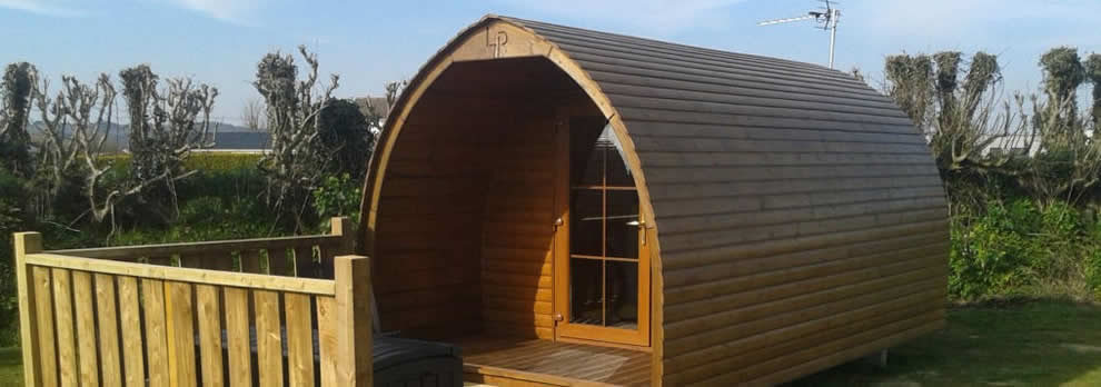 Camping pods for a glamping holiday at Looe Country Park, Caravan and Campsite near Looe
