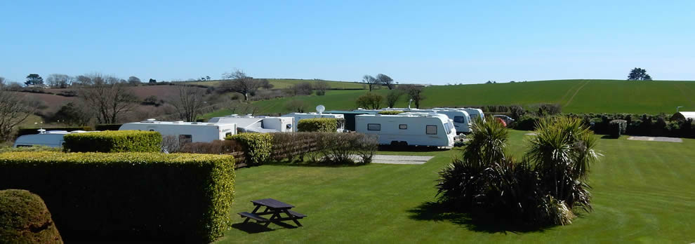 Camping and touring at Looe Country Park, Caravan and Campsite near Looe